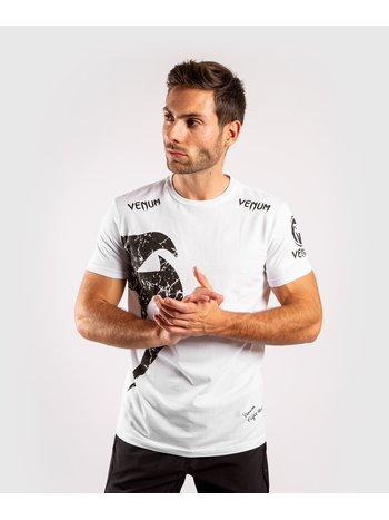 Venum Venum T-shirt Giant Wit Zwart Venum Vechtsport Kleding
