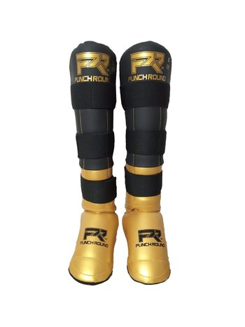 PunchR™  Punch Round Shinguards Experience Black Gold