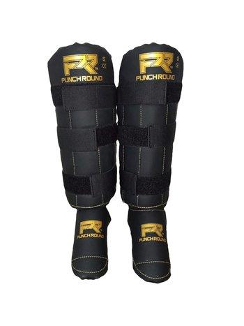 PunchR™  Punch Round Shinguards Experience Black Gold Logo