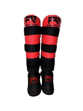 PunchR™  Punch Round Shinguards Experience Black Red