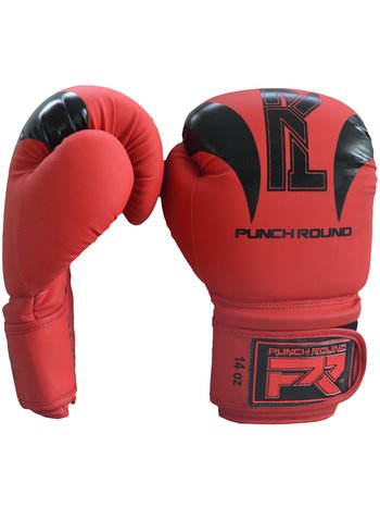 """PunchR™  Punch Round """"SLAM"""" Boxing Gloves Dull Red Black"""