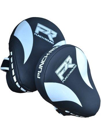 PunchR™  Punch Round PRO Hand Pads Focus Mitts Slam Zwart Wit
