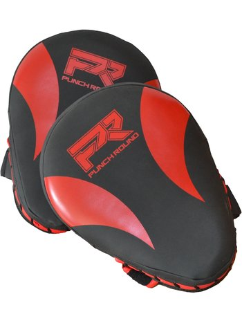 PunchR™  Punch Round PRO Hand Pads Kickboxing Pads Slam Black Red