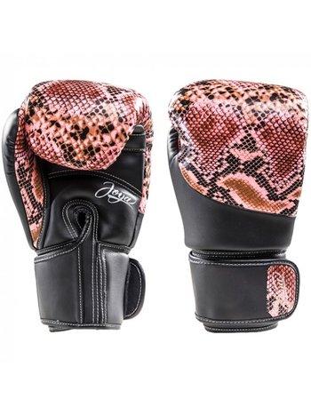 Joya Fight Wear Joya (Kick)Boxhandschuhe Thai Snake Pink Schwarz