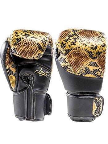 Joya Fight Wear Joya (Kick)Boxing Gloves Thai Snake Gold Black