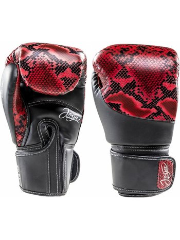 Joya Fight Wear Joya (Kick)Boxhandschuhe Thai Snake Rot Schwarz