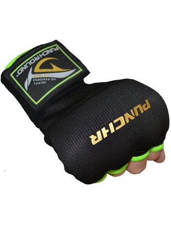 PunchR™  PunchR™ Gel Boxing Inner Gloves Hand Wraps Black Green