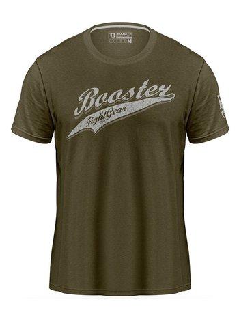 Booster Booster Vintage Slugger T-shirt Olijfgroen