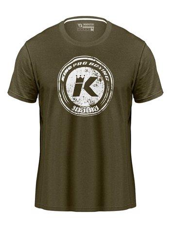 King Pro Boxing King Pro Boxing KPB Vintage Logo T-Shirt Olivgrün