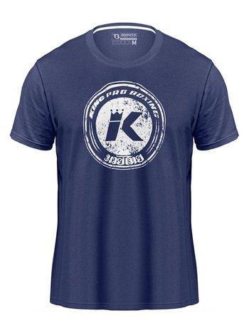 King Pro Boxing King Pro Boxing KPB Vintage Logo T-Shirt Blau