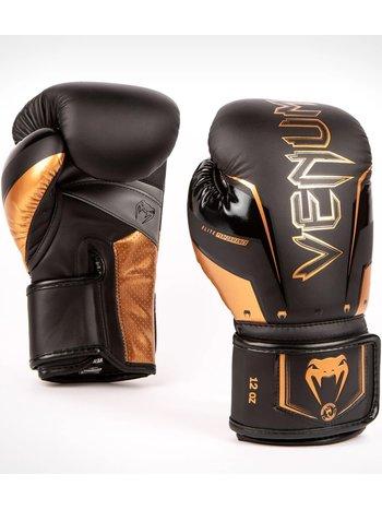 Venum Venum Elite Evo Boxing Gloves Black Bronze
