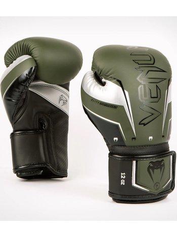 Venum Venum Elite Evo Kickboxing Boxhandschuhe Khaki Silber