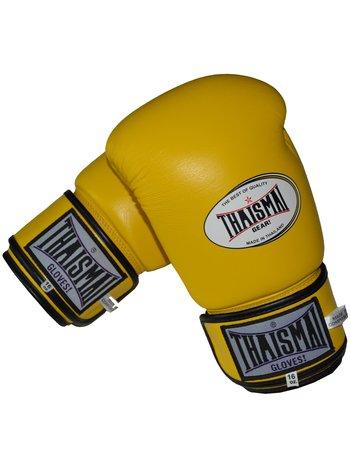 Thaismai Thaismai Muay Thai Bokshandschoenen BG124 Geel Leer