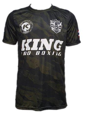 King Pro Boxing King Pro Boxing Star 1 Camo Forest Performance Aero Dry T-shirt