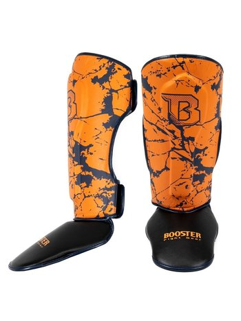 Booster Booster SG Youth Kickboxing Shinguards Marble Orange