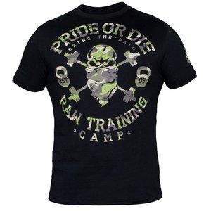 """Pride or Die Pride Or Die Vechtsport Kleding T-Shirt """"RAW TRAINING CAMP"""""""