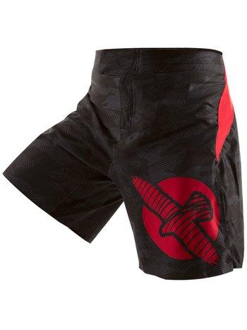 Hayabusa Hayabusa WELD3 Fight Shorts Zwart Rood MMA Kleding