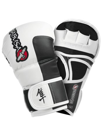 Hayabusa Hayabusa Tokushu 7oz MMA Hybrid Sparring Handschoenen Wit Grijs