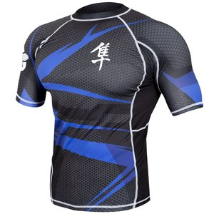 Hayabusa Hayabusa Rash guards Metaru SS Black Blue by Hayabusa Fightwear