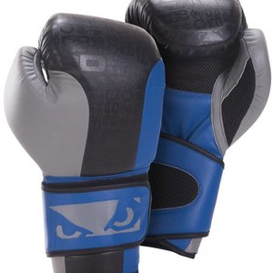 Bad Boy Bad Boy Legacy Boxing Gloves Black Grey Blue Kickboxing Gloves