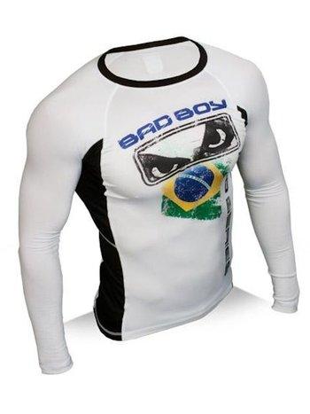 Bad Boy Bad Boy Brazil Rash Guard Stretch Top LS by Bad Boy Fightwear