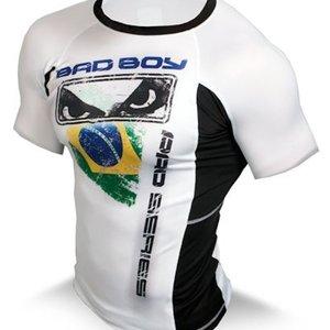 Bad Boy Bad Boy Brazil Rash Guard Stretch Top SS by Bad Boy Fightwear