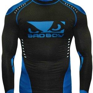 Bad Boy Bad Boy Sphere Kompressions Shirt Rash Guard L/A Schwarz Blau