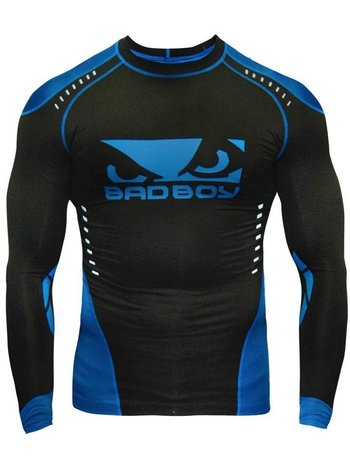 Bad Boy Bad Boy Sphere Compressie Top Rash Guard L/S Zwart Blauw