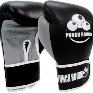 Punch Round™  Punch Round™ ELITE PRO Box Handschuhe Boxing Gloves Schwarz Grau
