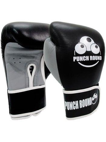 PunchR™  Punch Round™ ELITE PRO Box Handschuhe Boxing Gloves Schwarz Grau