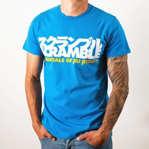 Scramble SCRAMBLE BJJ Essentials T Shirt Blue BJJ Fightwear