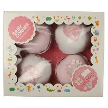 4 -er Set Body cupcake kurzarm rosa