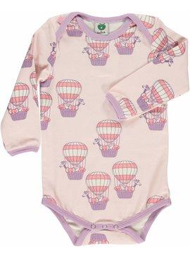 Småfolk - bunte skandinavische Mode rosa Body Heißluftballon