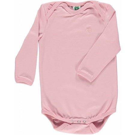 Småfolk - bunte skandinavische Mode rosa Body uni BIO (GOTS) von Smafolk