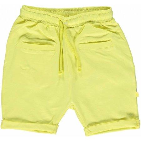 Småfolk - bunte skandinavische Mode gelbe Baby Shorts BIO uni BIO (GOTS) von Smafolk