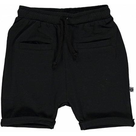 Småfolk - bunte skandinavische Mode schwarze Baby Shorts BIO uni BIO (GOTS) von Smafolk