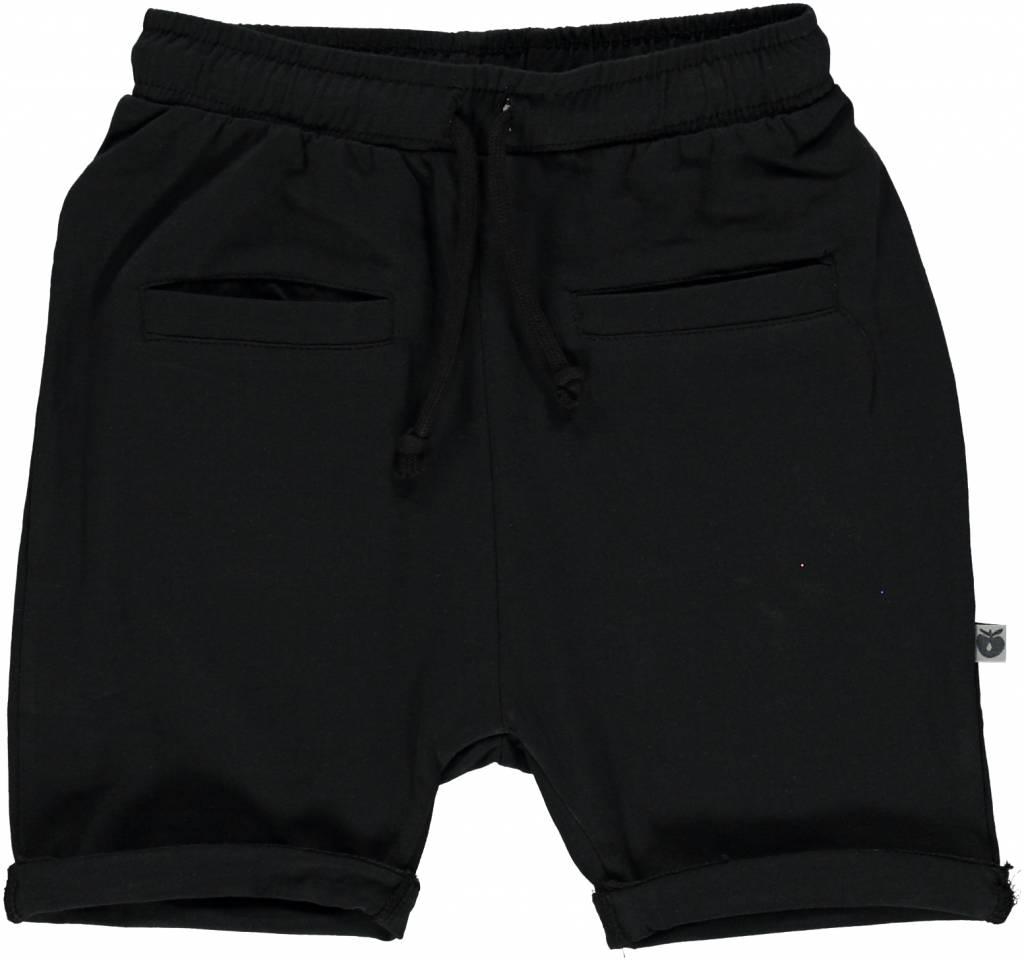 schwarze Baby Shorts BIO uni BIO (GOTS) von Smafolk