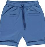 Småfolk - bunte skandinavische Mode blaue Baby Shorts BIO uni BIO (GOTS) von Smafolk