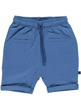 Småfolk - bunte skandinavische Mode blaue Baby Shorts BIO