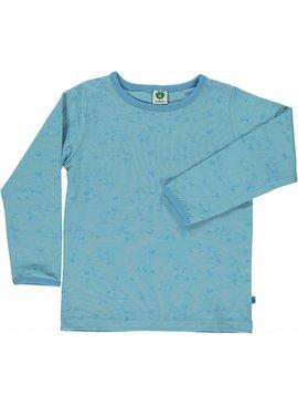 Småfolk - bunte skandinavische Mode blaues Langarmshirt Seelöwe
