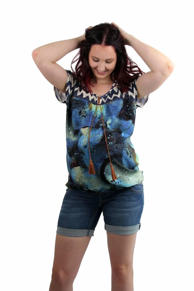 Love2Wait stylisches Umstandsshirt im Ethnostyle von Love2Wait