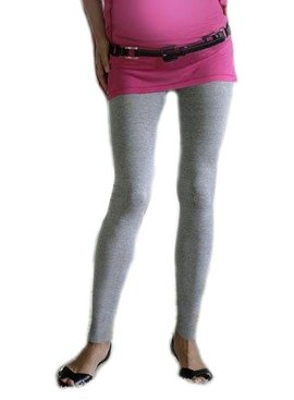 9fashion graue lange Umstandsleggings
