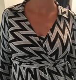schwarz-graues gemustertes Umstandskleid mit Stillfunktion von 9fashsion
