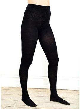 Milker Nursing Umstandsstrumpfhose schwarz aus Wolle