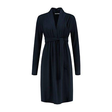 Love2Wait dunkelblaues , festliches Umstandskleid mit Stillfunktion Tencel® von Love2Wait