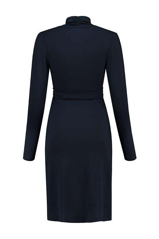 dunkelblaues , festliches Umstandskleid mit Stillfunktion BIO Tencel® von Love2Wait