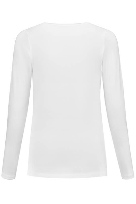 weißes, Basic Umstandsshirt mit Stillfunktion  BIO Tencel® von Love2Waitlangarm