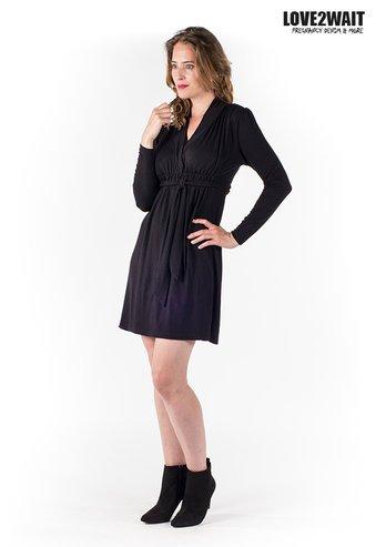 Love2Wait schwarzes, festliches Umstandskleid mit Stillfunktion Tencel® von Love2Wait