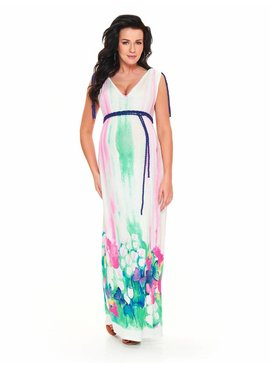 9fashion Maxi Umstandskleid Pastell