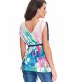 schickes Umstandsshirt mit tollem Farbverlauf und Schmetterling in Pastell von 9fashion